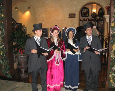 Carollers at the Mission Inn