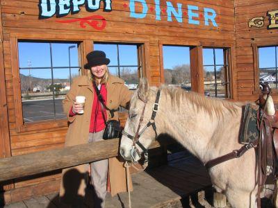 Donna meets a horse
