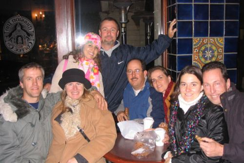 The Gang at the Mission Inn Coffee Co.