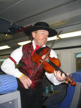 We were entertained by a fiddlin' cowboy