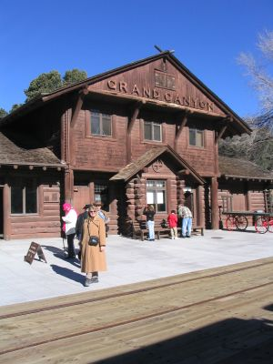 The depot at the Grand Canyon