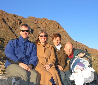 The gang takes a photo op at a little overlook on the mountain