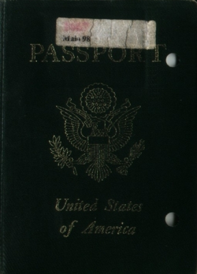 Front of my old, tattered passport